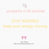Thumbnail image for [Video] Prosperity In 60 Seconds: Stay Inspired