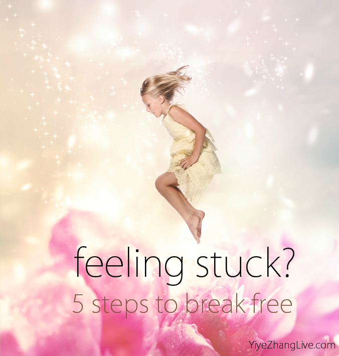 how to feel happy, get unstuck, manifesting