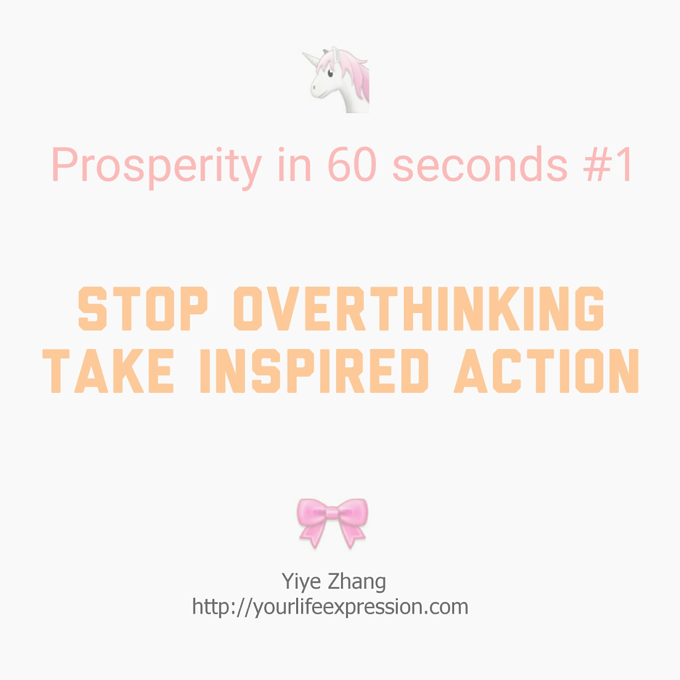 Post image for [Video] Prosperity In 60 Seconds: Stop Overthinking