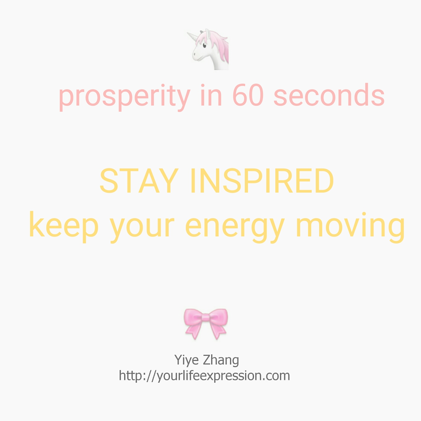 Post image for [Video] Prosperity In 60 Seconds: Stay Inspired